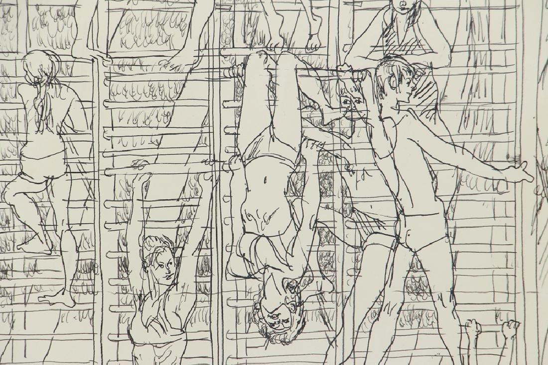 Henry Koerner Acrobats Drawing - 4
