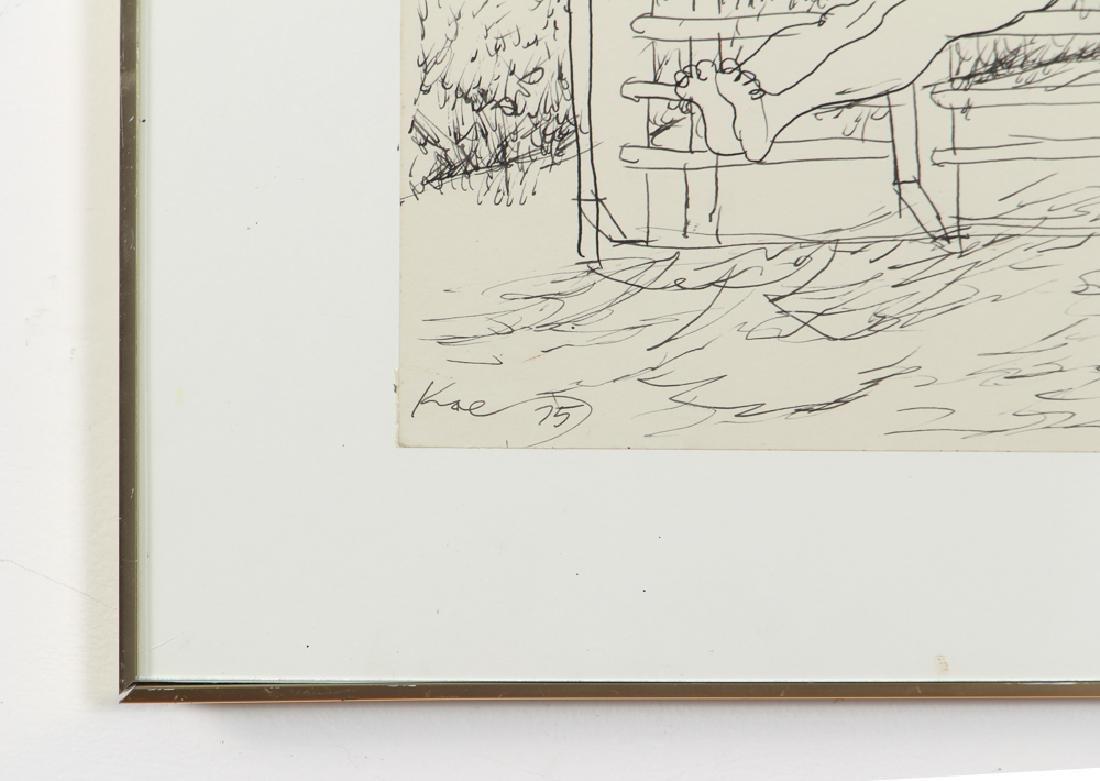 Henry Koerner Acrobats Drawing - 5