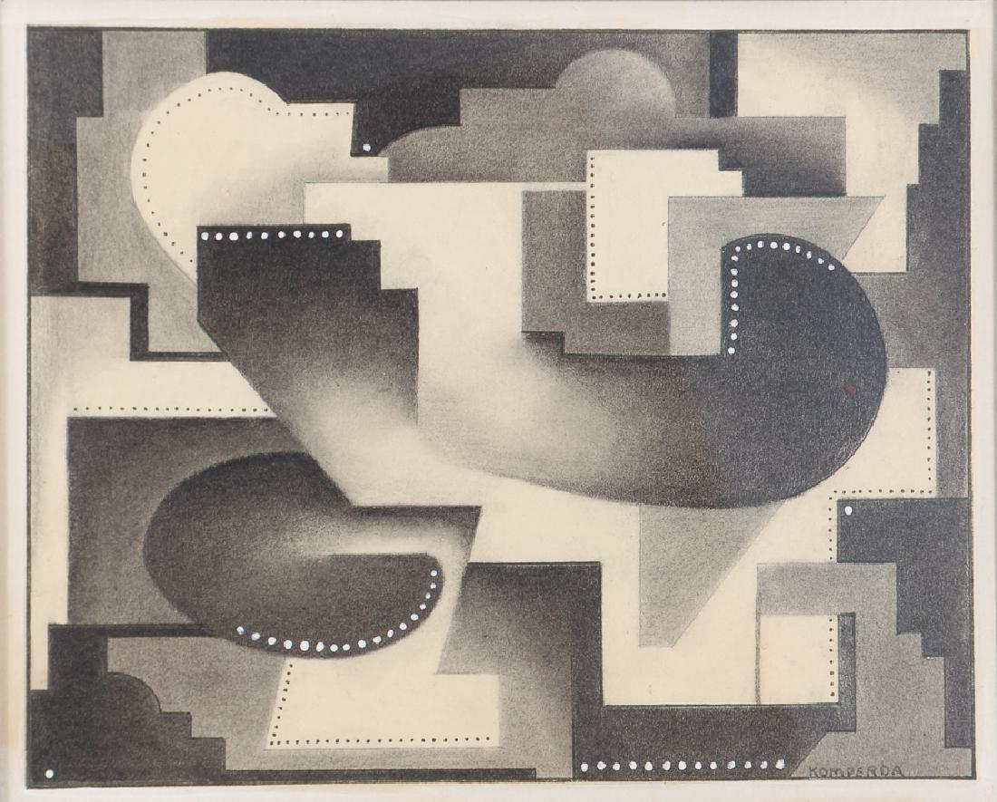 Frank Komperda 1932 Cubist drawing Studio 2