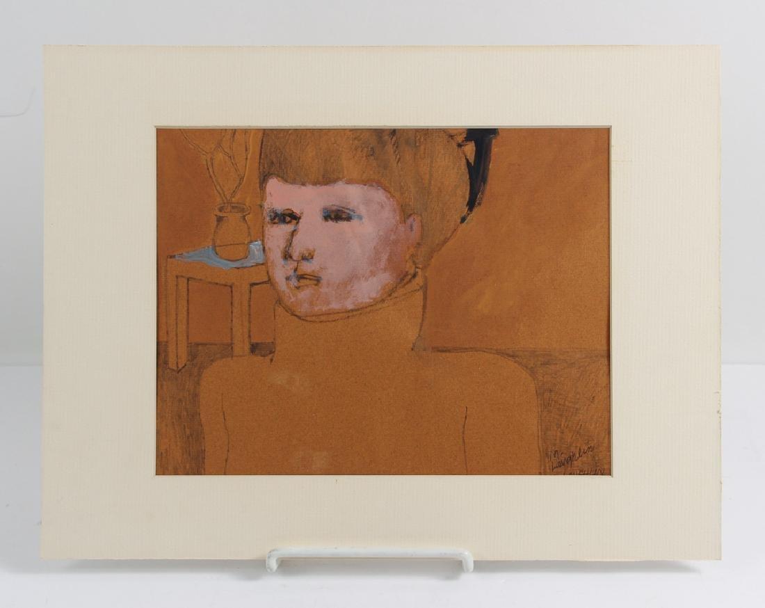 Martha Laughlin drawing of a Woman