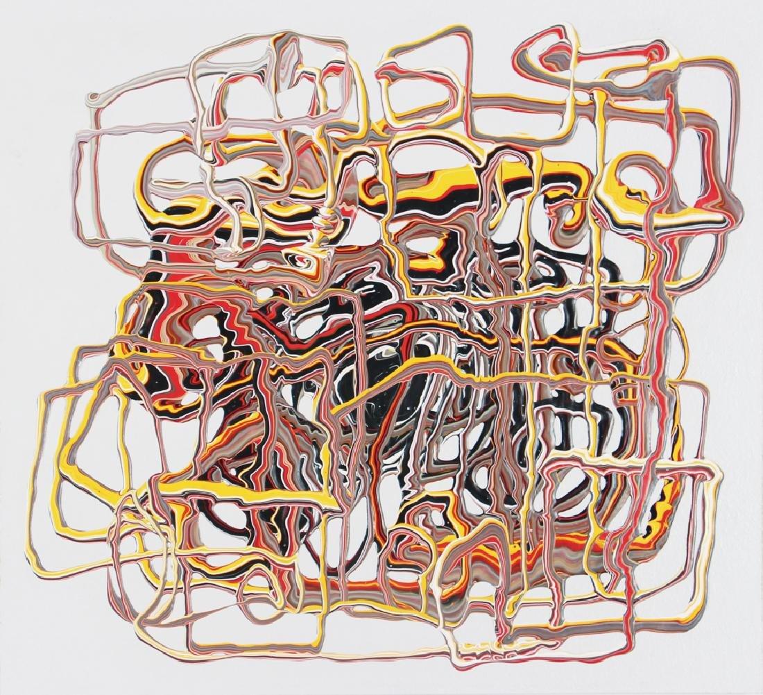 Margie Livingston 2010 ptg. Reversible Glue Test,