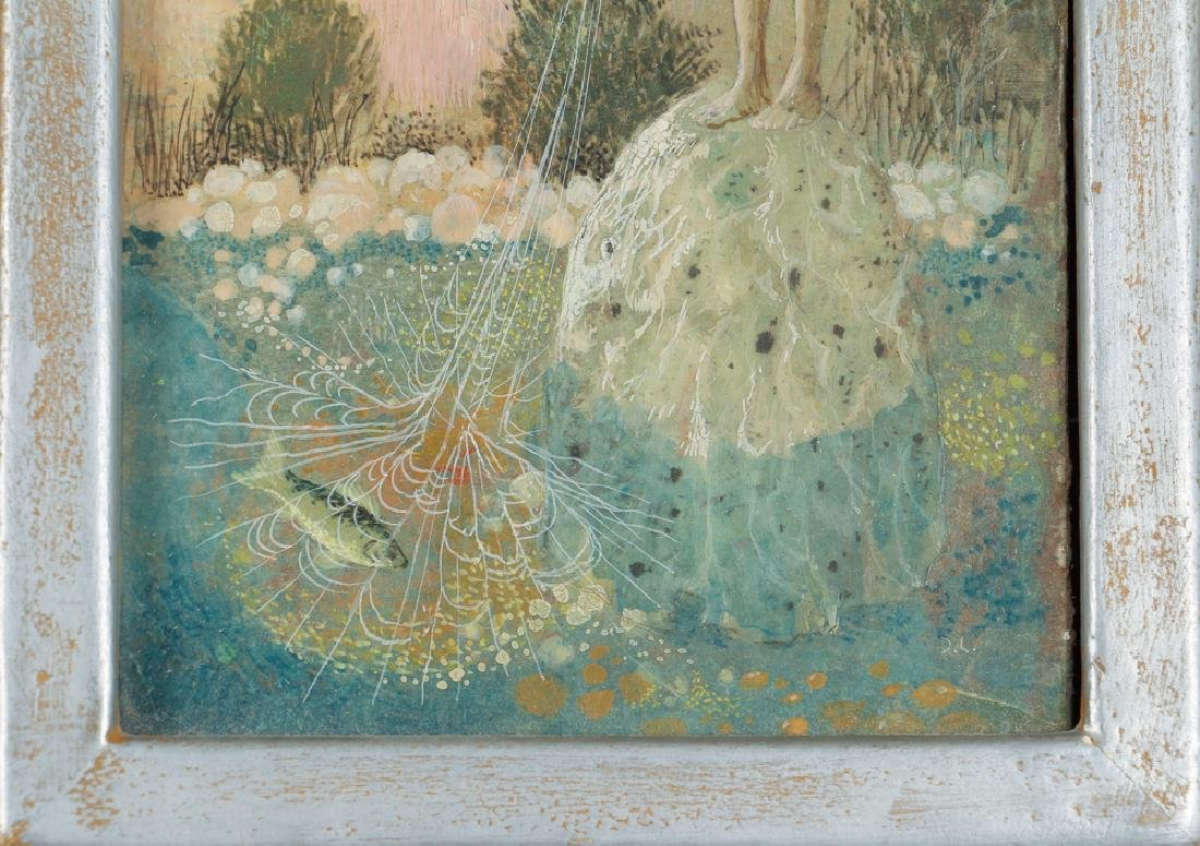 Don W. Lord surrealist ptg. Boy with Fishing Net - 5