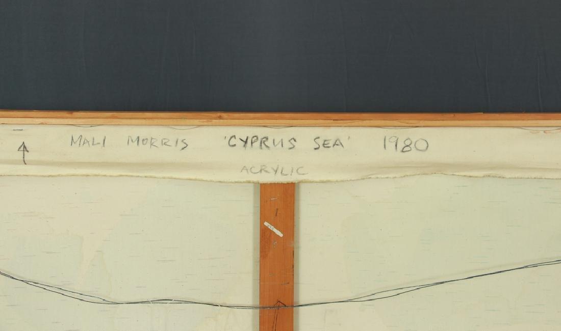 Mali Morris 1980 painting  Cyprus Sea - 7