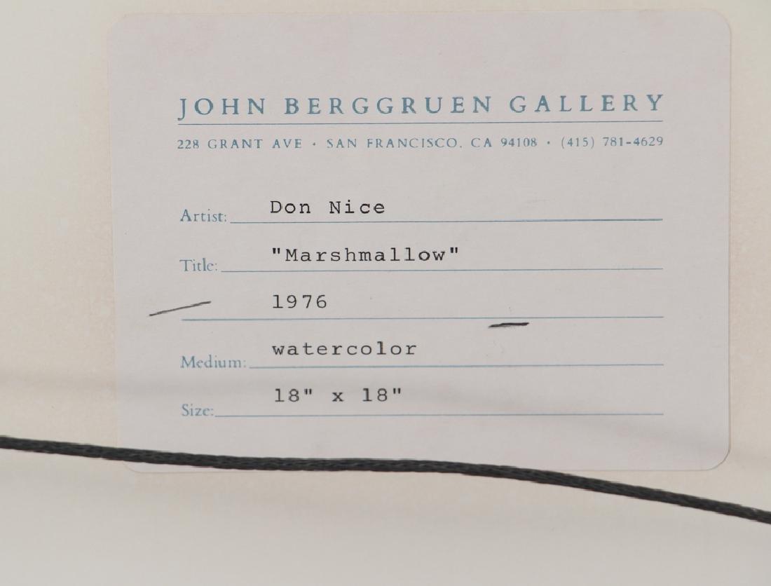 Don Nice 1976 watercolor Marshmallow - 7