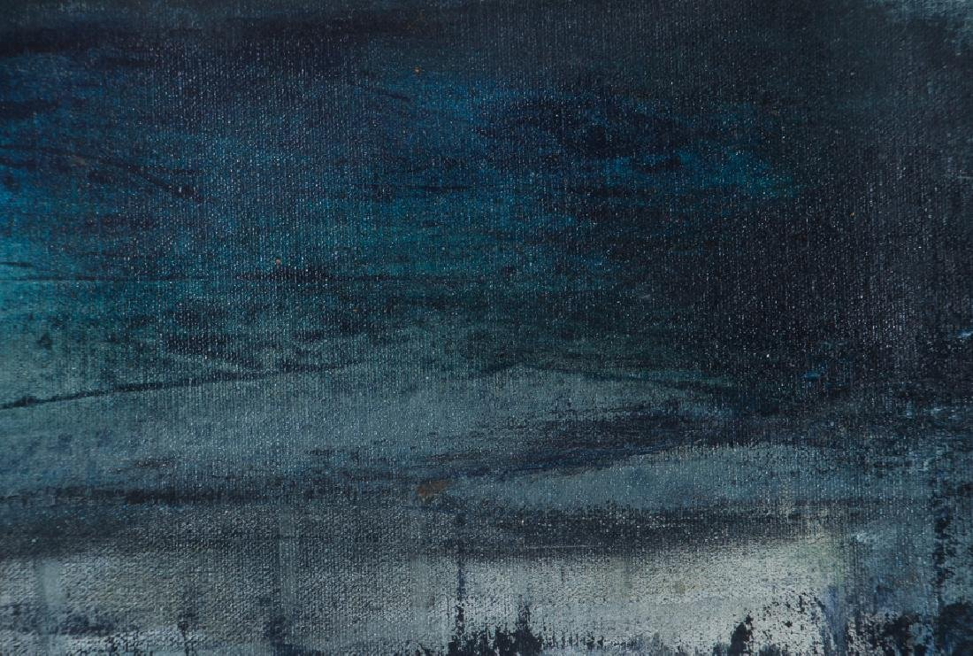 Larissa Osby Blue Harbour Oil Painting - 4