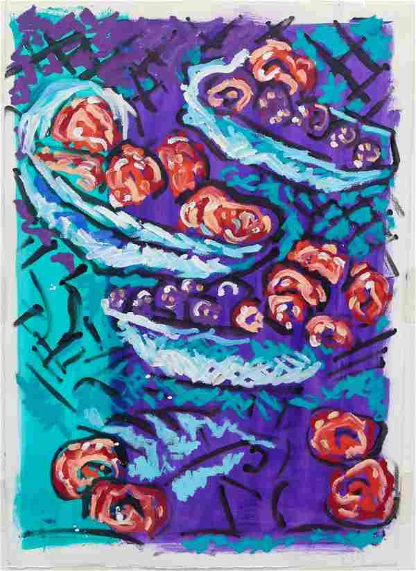 Judy Rifka ptg on paper Still Life XVI