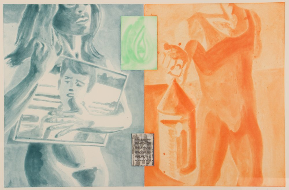 David Salle 1989 etching aquatint Canfield Hatfield
