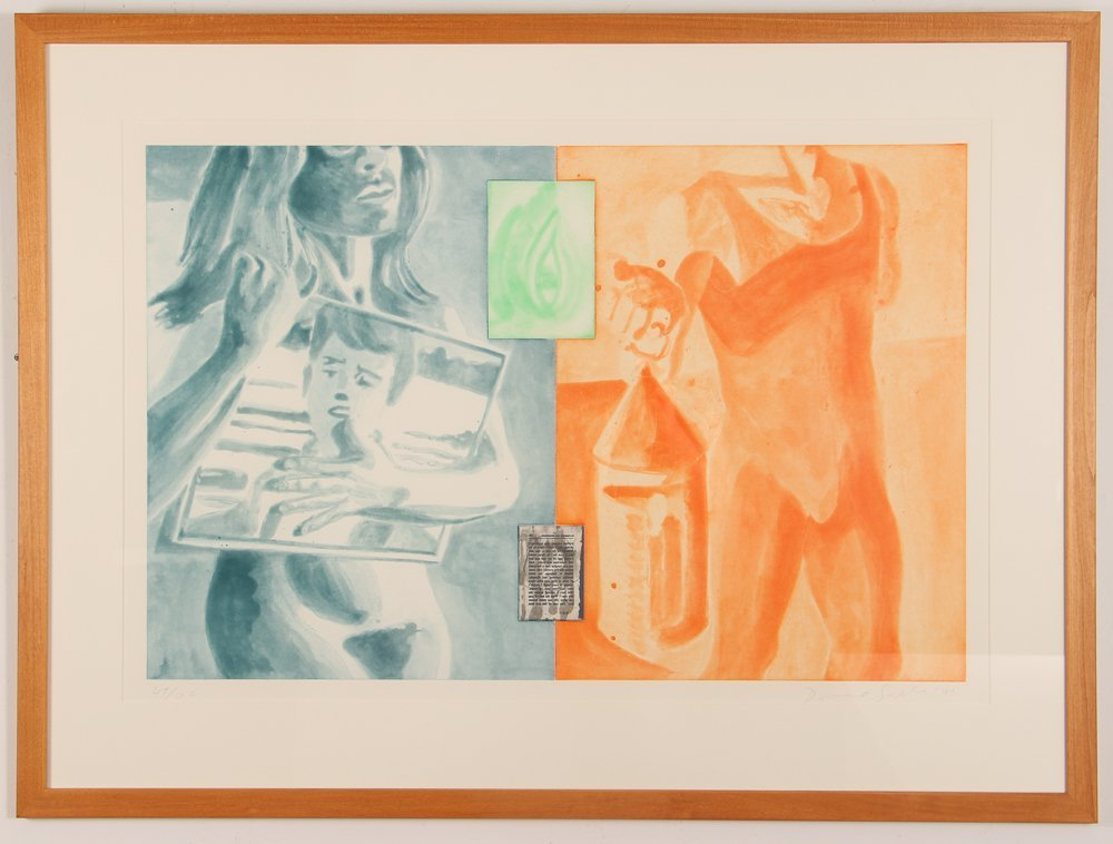 David Salle 1989 etching aquatint Canfield Hatfield - 2