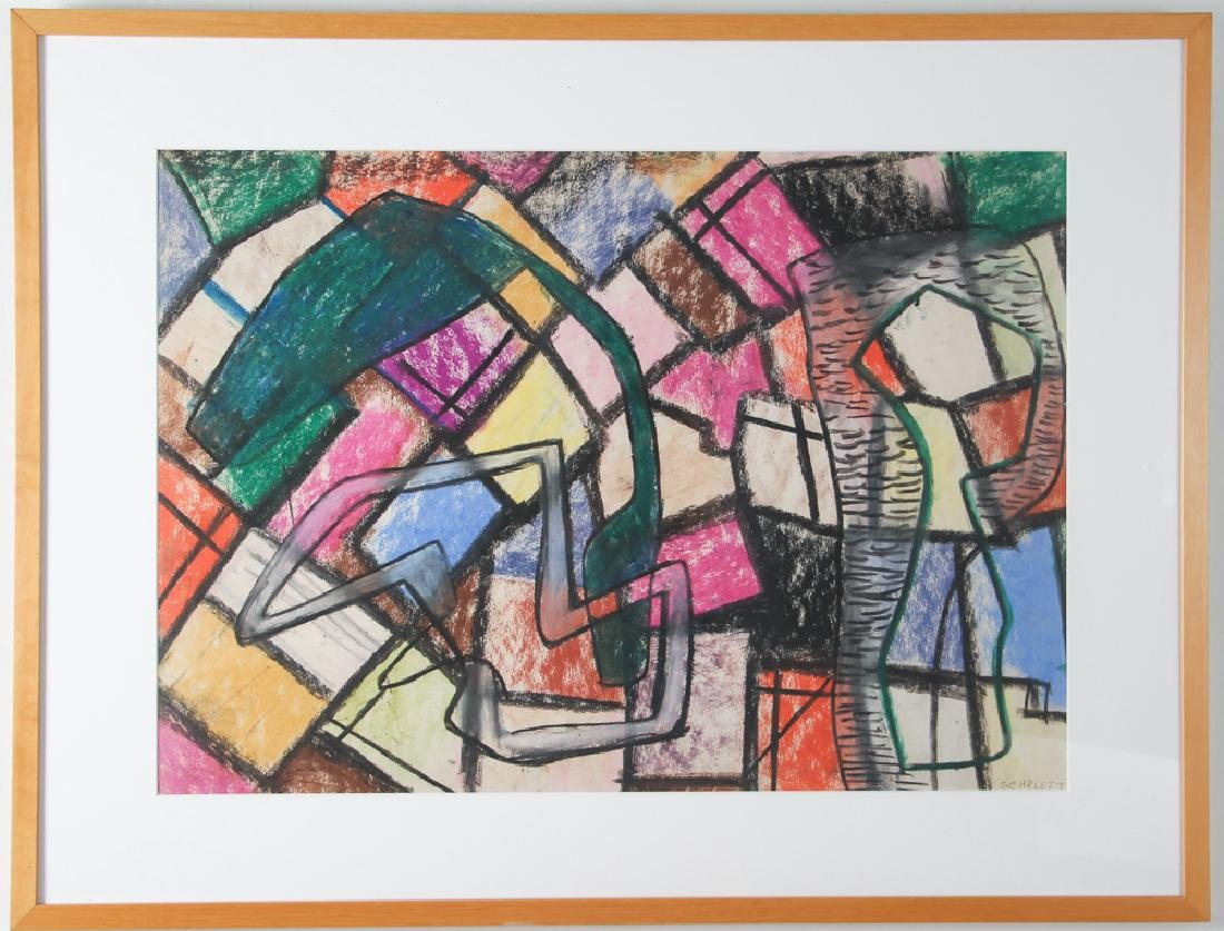 Rolph Scarlett crayon Abstraction on Paper