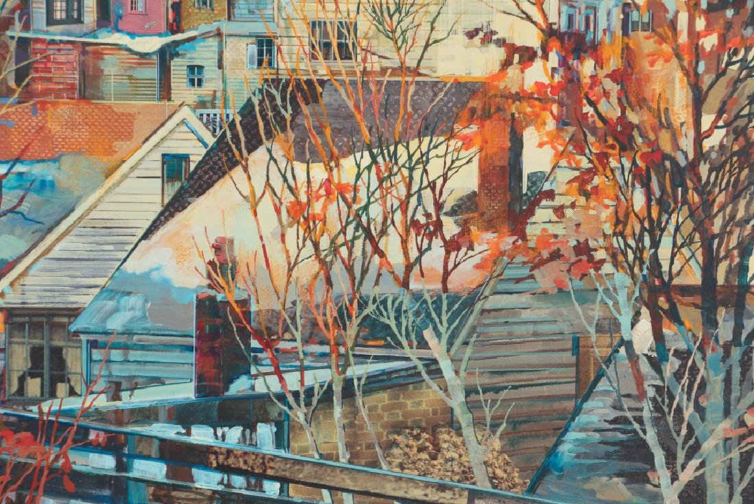 Robert Schmalzreid Southside Pittsburgh Oil Painting - 4