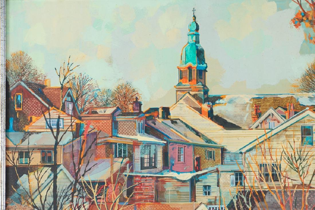Robert Schmalzreid Southside Pittsburgh Oil Painting - 5