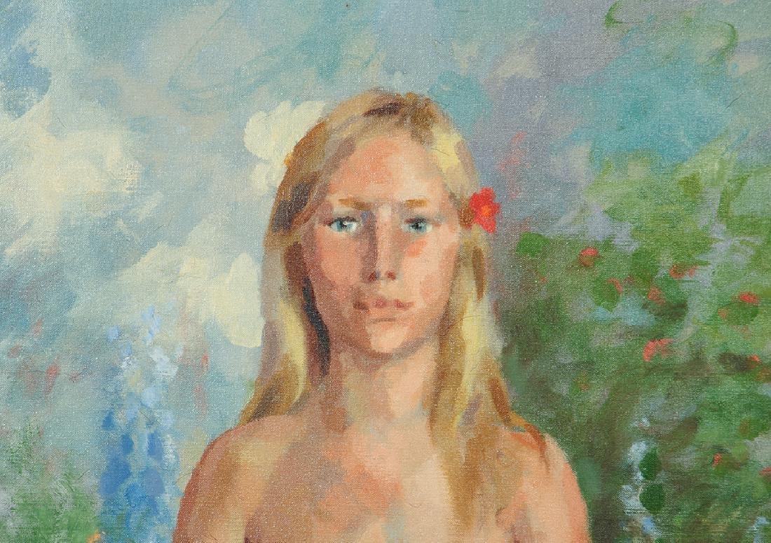 Henry Strater 1971 painting  Happy Birthday Adam - 4