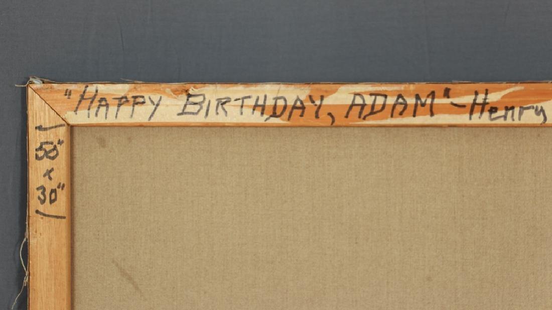 Henry Strater 1971 painting  Happy Birthday Adam - 6