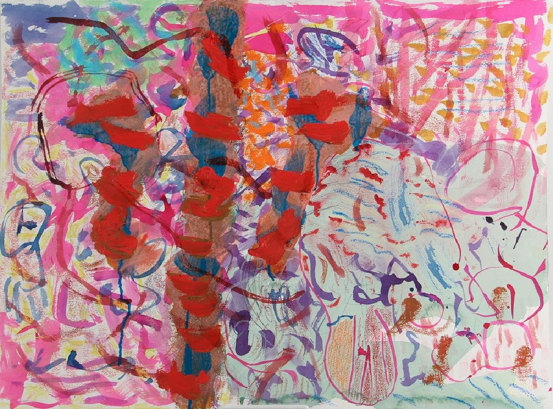 Gary Wragg 1980 Abstract painting on paper