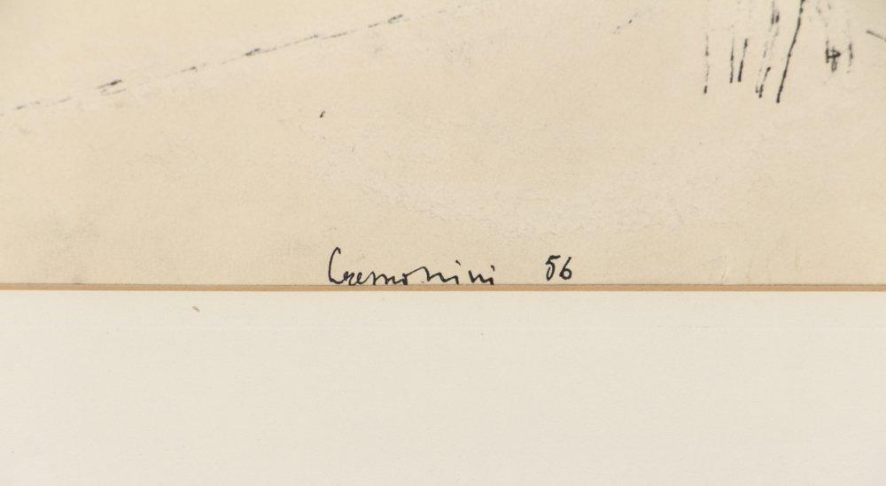 Leonardo Cremonini 1956 drawing Reclining Figures - 3