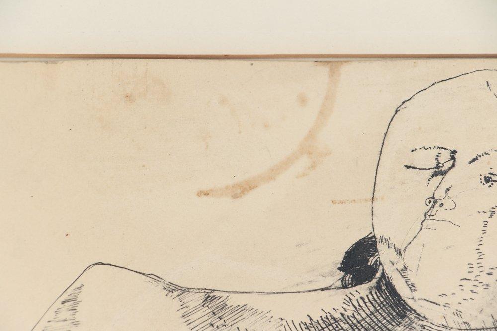 Leonardo Cremonini 1956 drawing Reclining Figures - 8