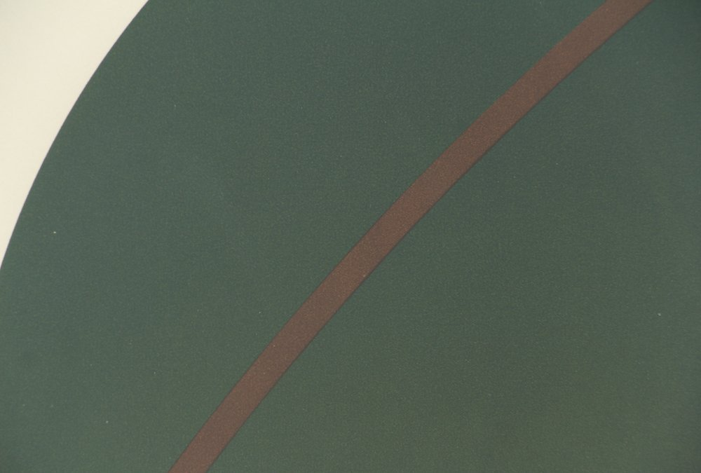 Alexander Liberman Green Circle on Blue Lithograph - 7