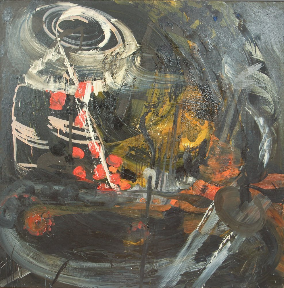 Willy Heeks Large Abstract Oil on Canvas 1984
