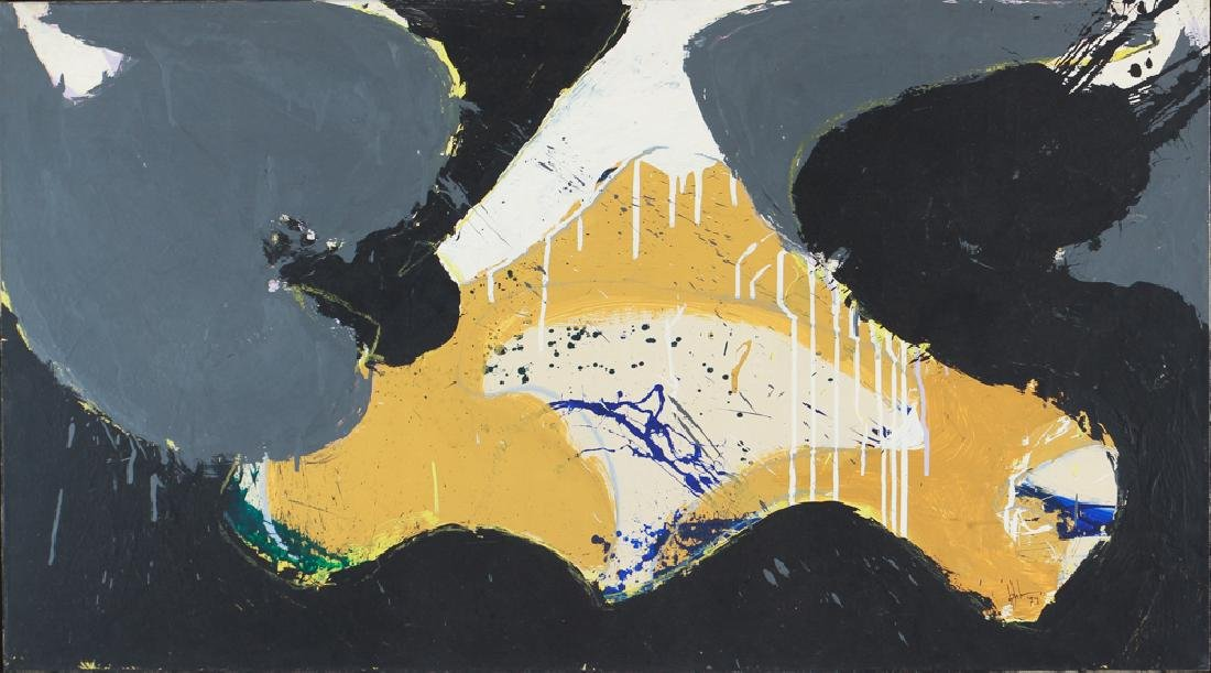 Norman Bluhm Untitled Abstract 1973 painting