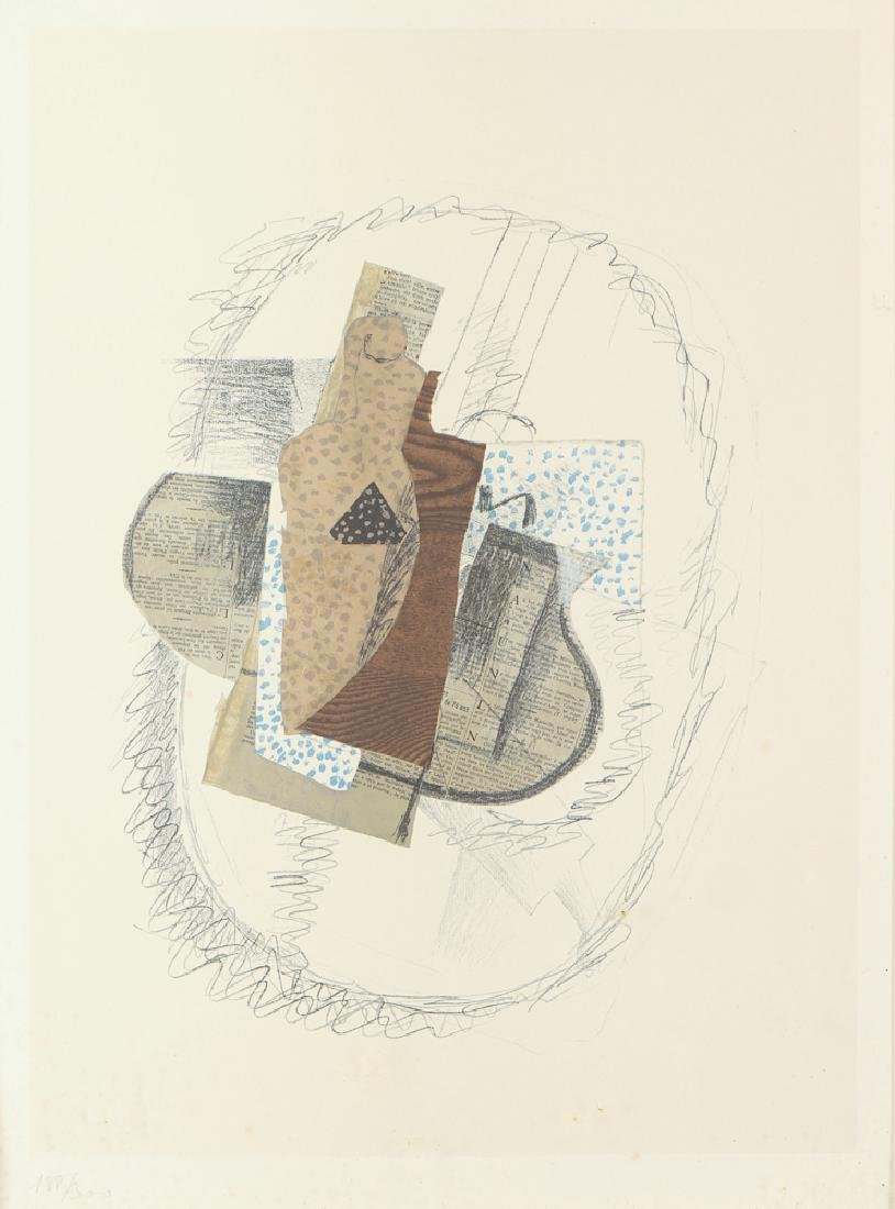 After Georges Braque numbered lithograph Still Life