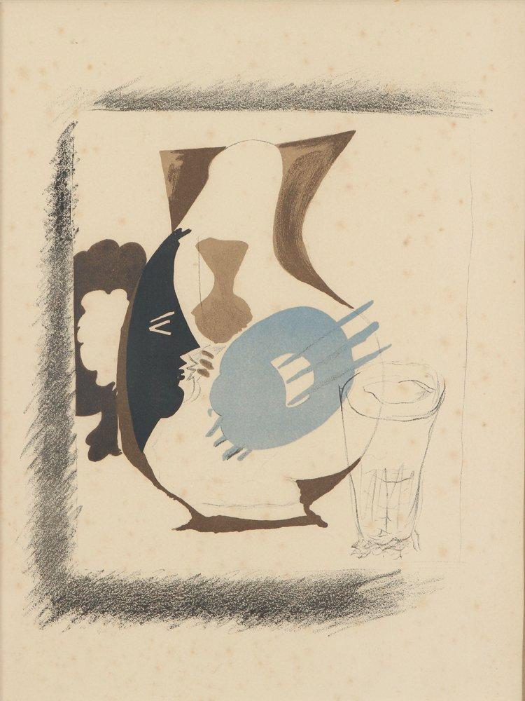 """Georges BRAQUE lithograph """"Verre et Pichet"""""""