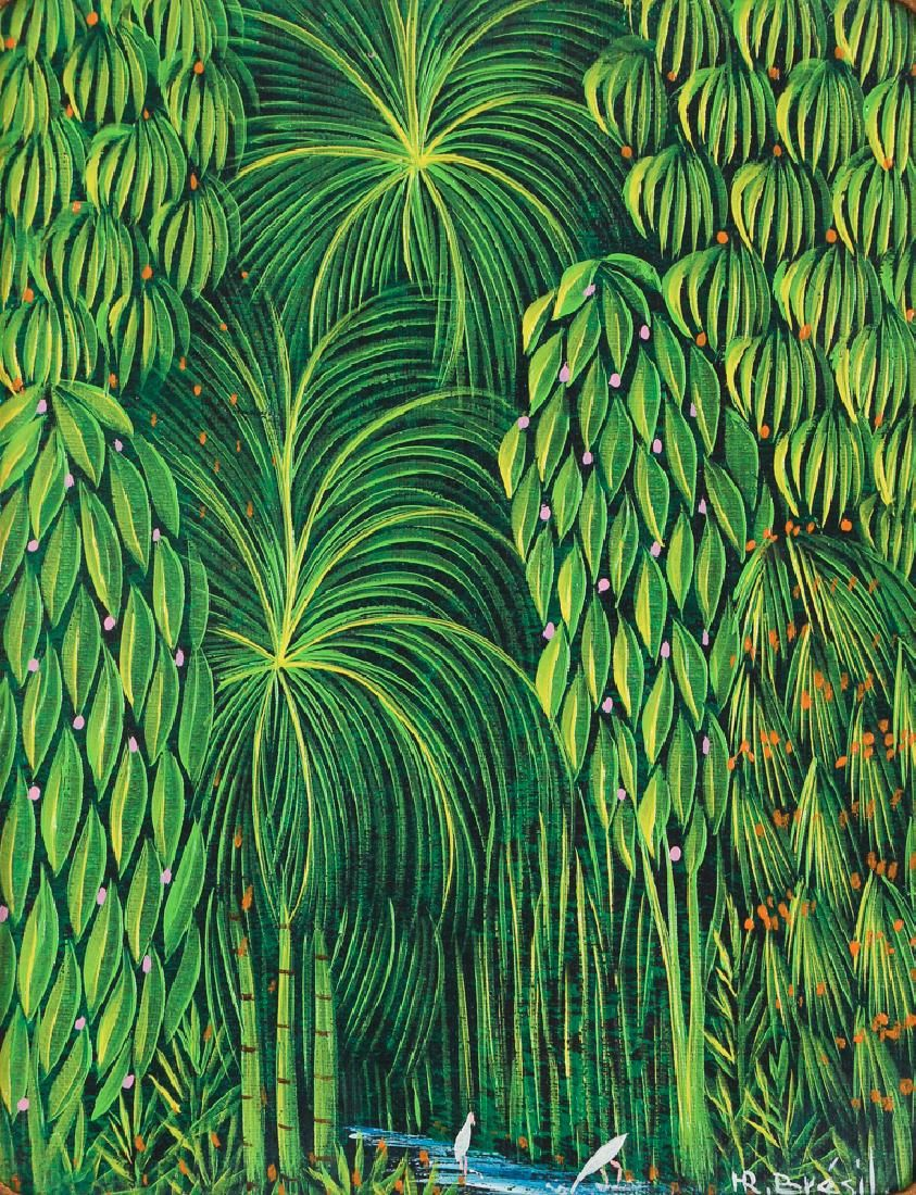 H. R. Bresil Tropical Forest Interior painting