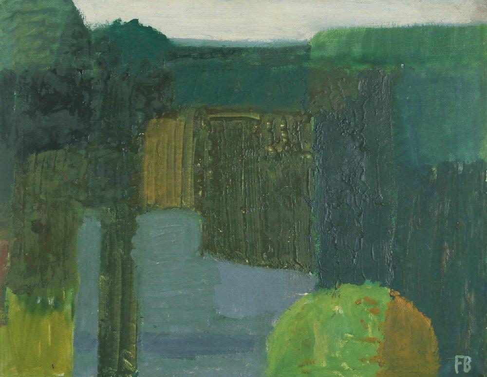 Frits Bruselius painting Gate Near the Sea