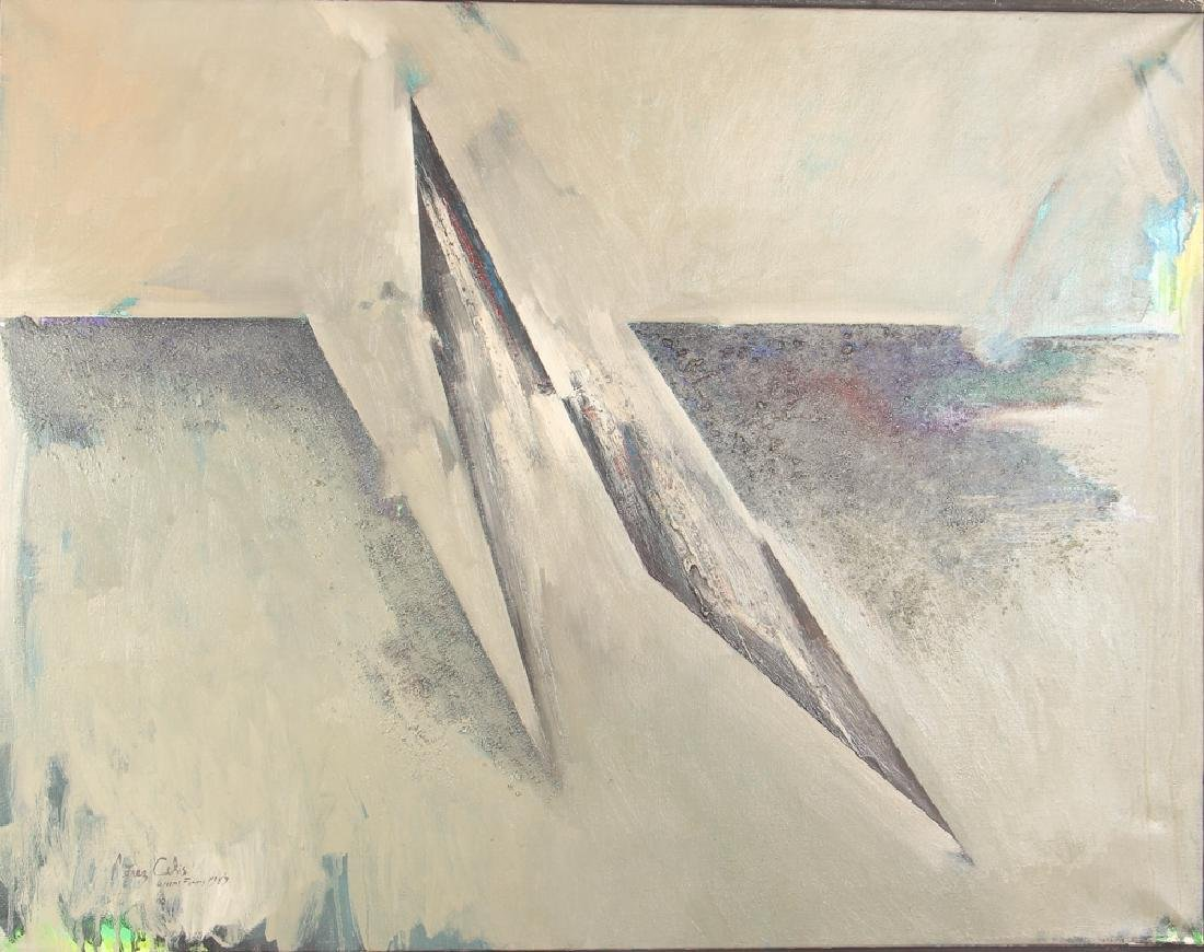 Perez Celis 1983 painting Greens Frames