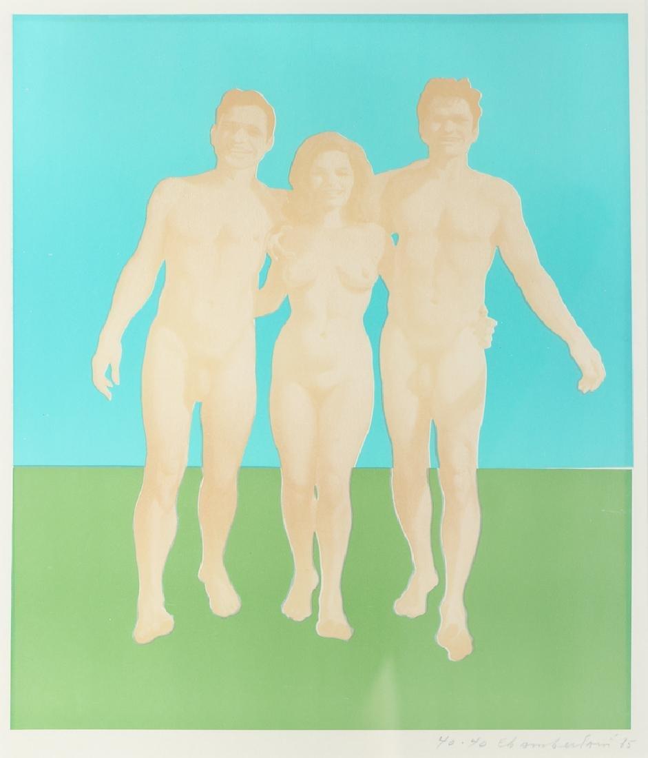 Wynn Chamberlain 1965 lithograph Three Nudes