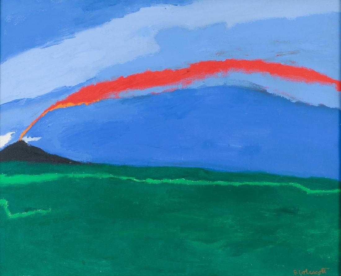 Robert Colescott 1968 painting Volcano