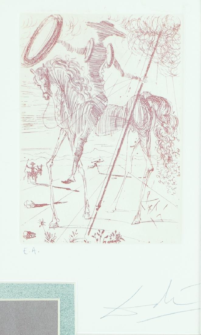 Salvador Dali Don Quixote  Aquatint