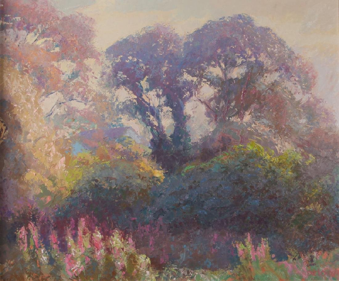 Gerald Deloach 1988 Impressionist painting Morning Haze