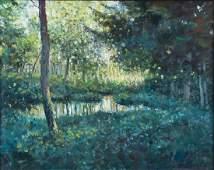 Thomas McNickle landscape painting Green Landscape