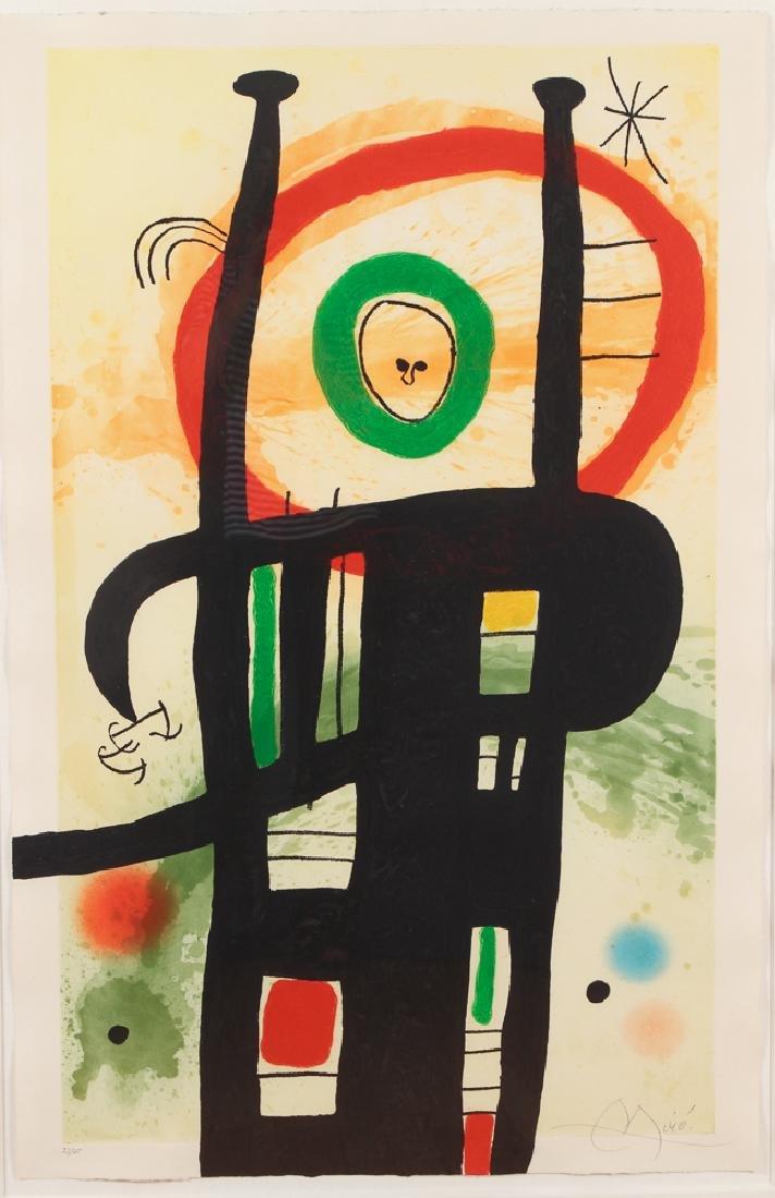 Joan Miro 1969 color etching Le Grand Ordinatuer