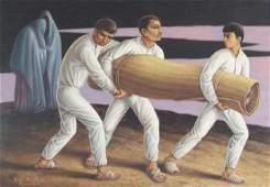 Rafael Navarro Barajas 1958 oil painting Entierro