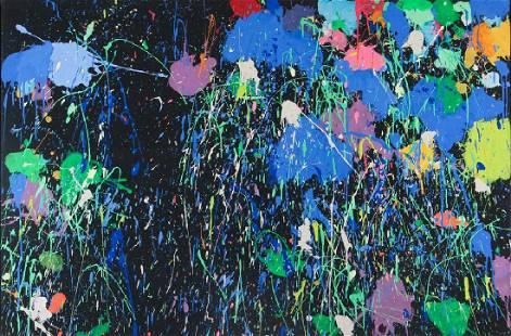 Walasse Ting 1972 painting Night Blooming Flowers