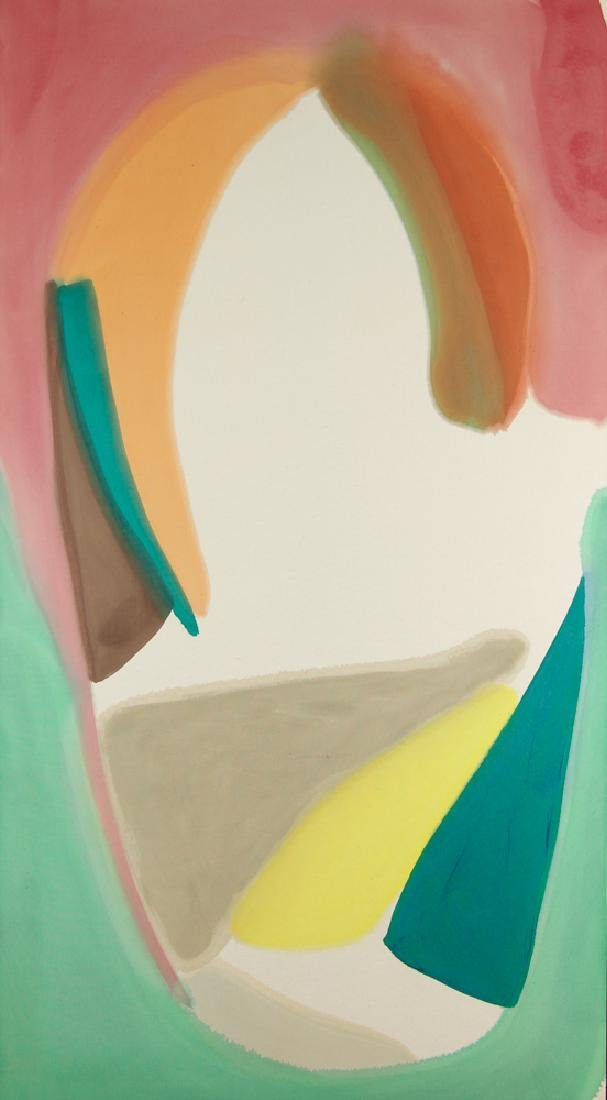 Larry Zox 1975 painting  Laurentian Cone