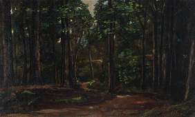 George Hetzel painting The Winding Road through the