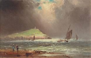Charles Henry Gifford 1886 ptg Stormy Day Gay Head