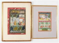 2 Indian Early MiniaturesKrishna and Kishangarh