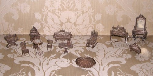 10: 14pc.s of Italian Miniature Wirework Furniture