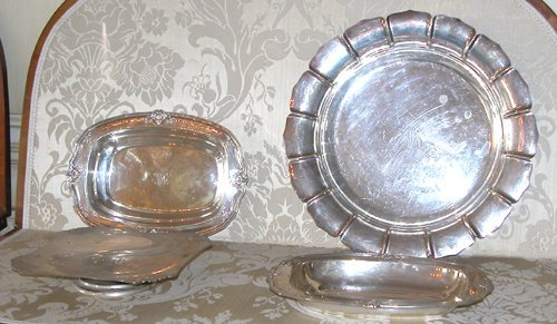 12: 4pc Sterling Serving Dishes