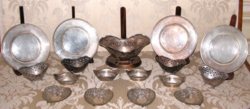 21: Silver Nut/Bon Bon Dishes and Plates