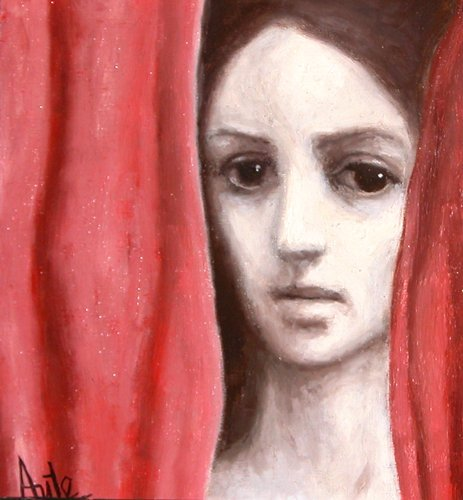 84: Luis Eduardo Aute painting  Curtain