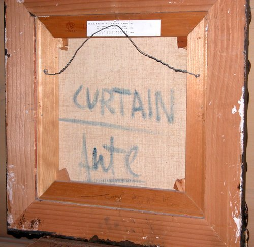 84: Luis Eduardo Aute painting  Curtain - 3