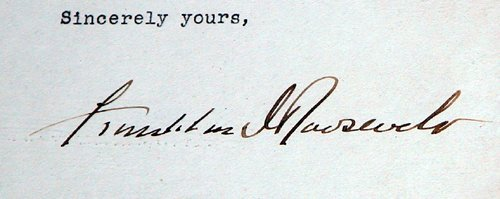 173: FDR letter and photograph