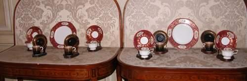 383: 53 pc English Porcelain tea/coffee sets