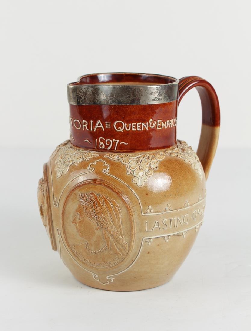 Doulton Lambeth Victoria Queen Jubilee Jug, 1897,