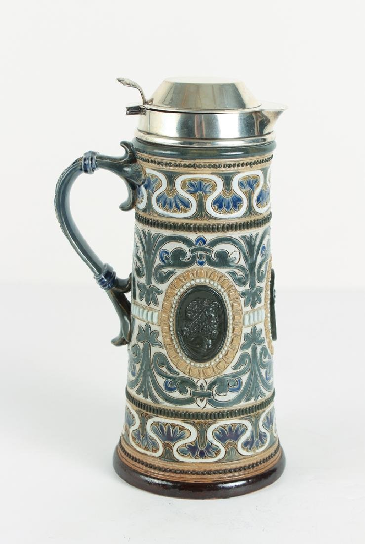 Doulton Lambeth Lidded Pitcher with Classical Antiquity
