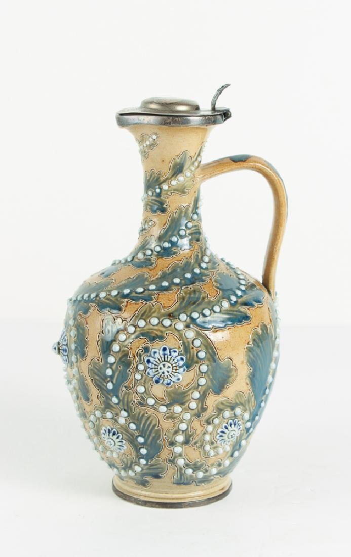 Doulton Lambeth by George Tinworth Arabesque Jug with